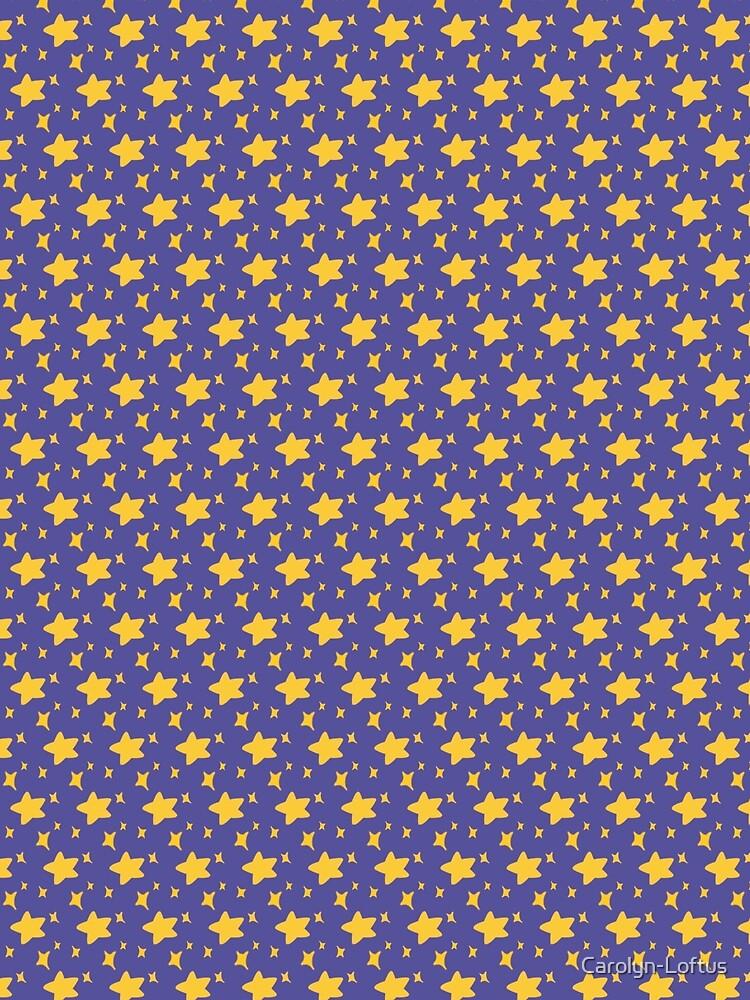 Night Owls, Sub Pattern (Purple Stars) by Carolyn-Loftus