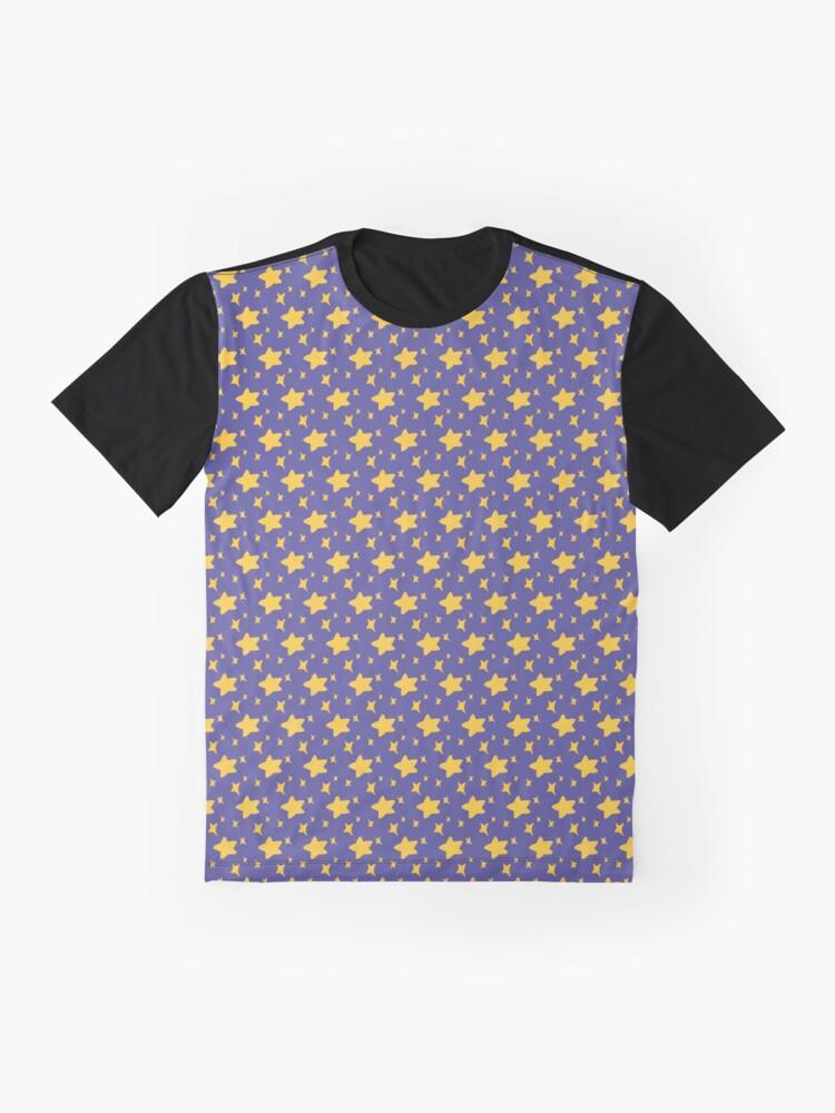 Alternate view of Night Owls, Sub Pattern (Purple Stars) Graphic T-Shirt