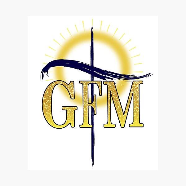GFM Cross Logo Photographic Print