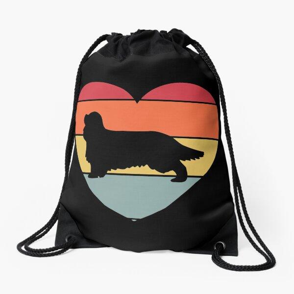 Cavalier king Charles Spaniel Dog Vintage Retro Drawstring Bag