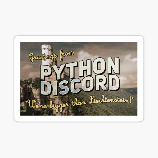Greetings from Python Discord Sticker