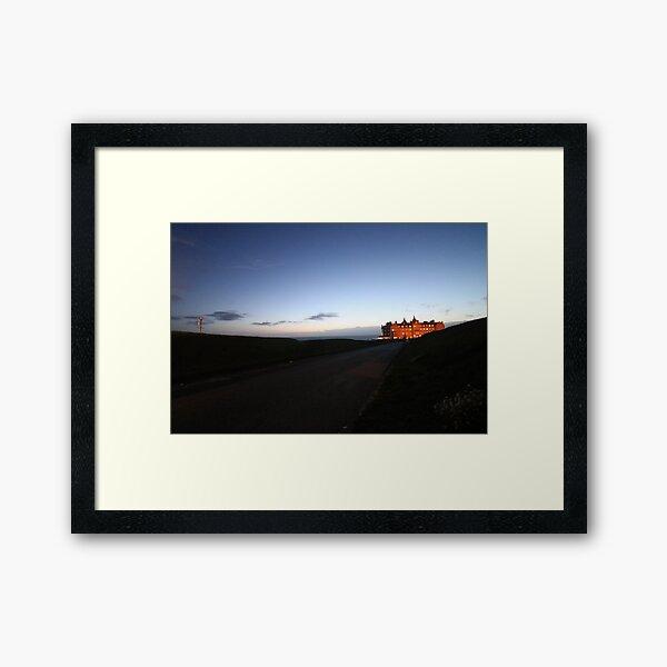 Headland Hotel Newquay in evening sunshine Framed Art Print