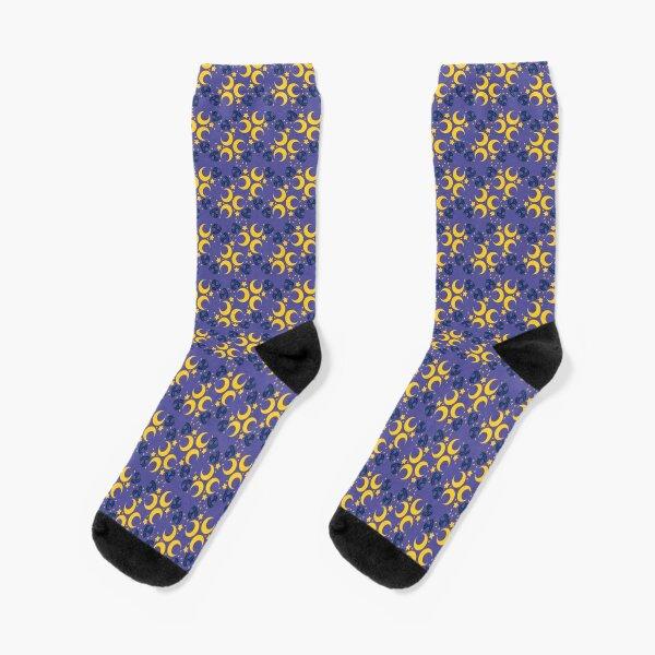 Night Owls, Main Pattern (Purple) Socks