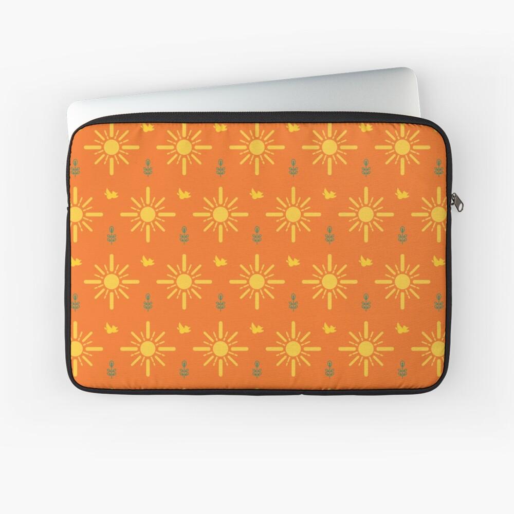 Early Bird, Main Pattern (Orange) Laptop Sleeve