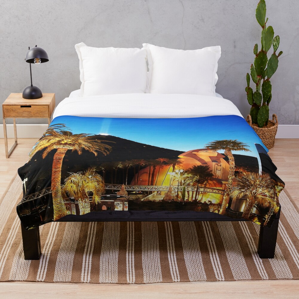 Luxor Pyramid And Sphinx Of Giza, Las Vegas Throw Blanket