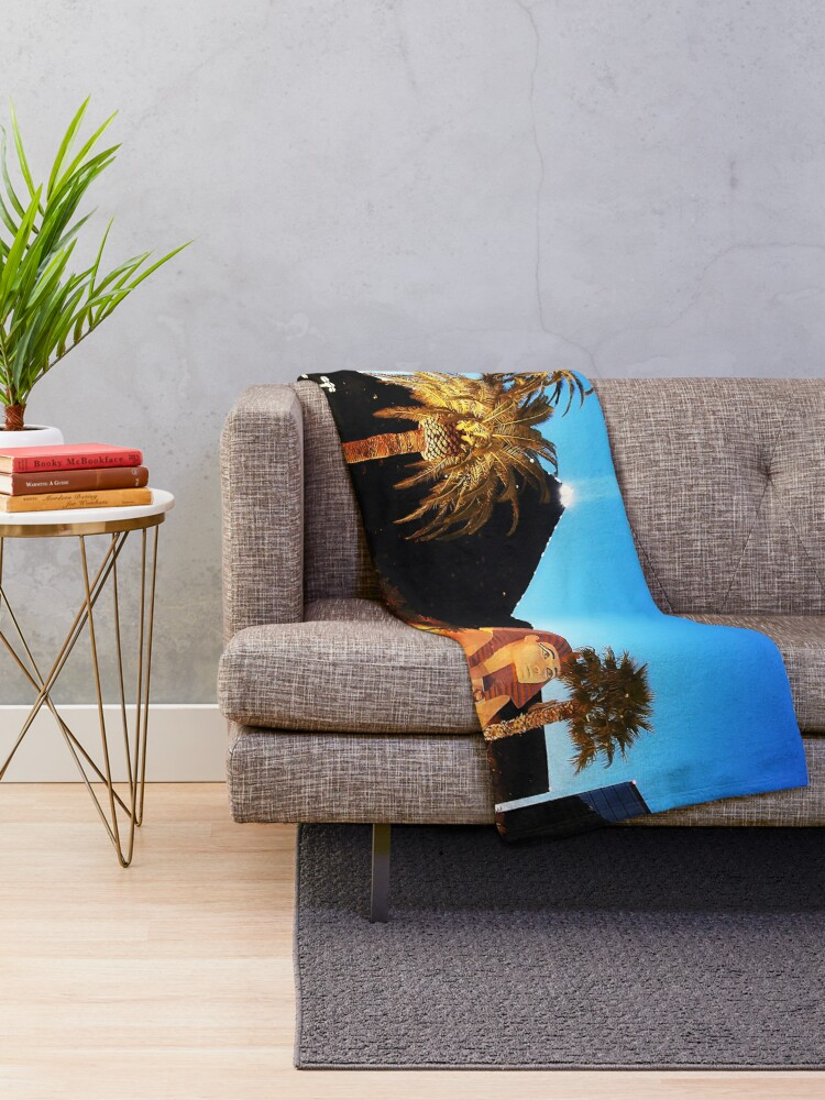 Alternate view of Luxor Pyramid And Sphinx Of Giza, Las Vegas Throw Blanket