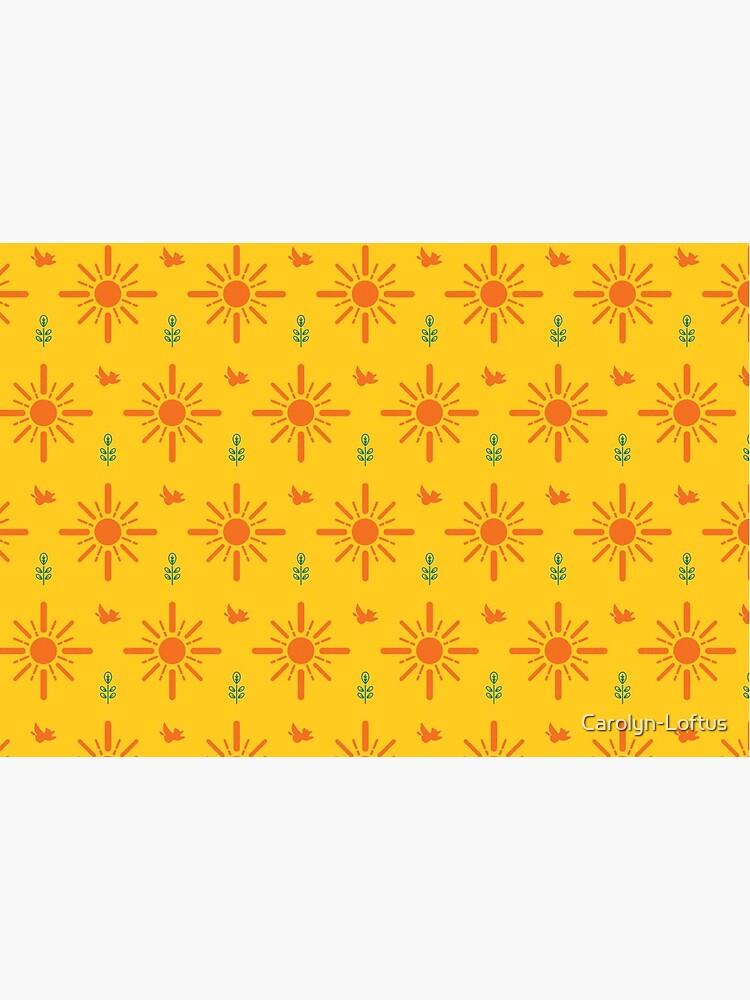 Early Bird, Main Pattern (Yellow) by Carolyn-Loftus