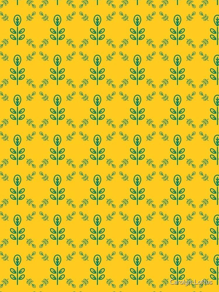 Early Bird, Sub Pattern (Leaf Yellow) by Carolyn-Loftus