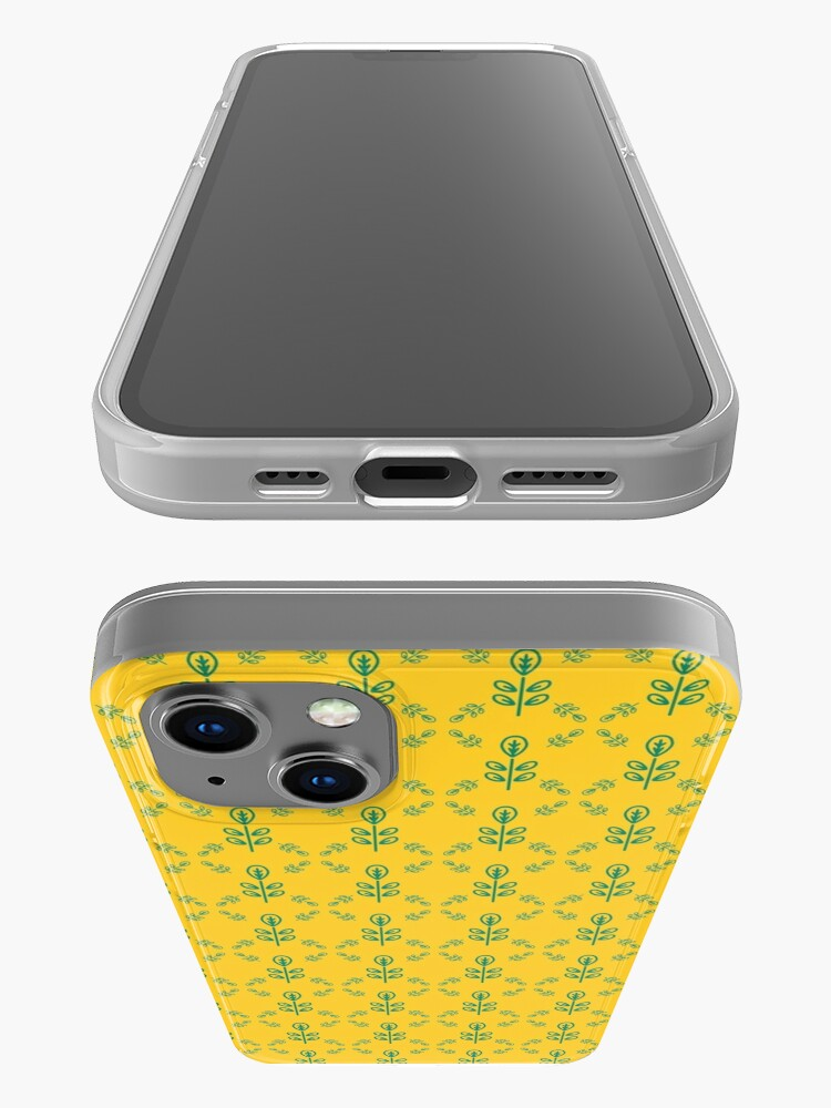 Alternate view of Early Bird, Sub Pattern (Leaf Yellow) iPhone Case