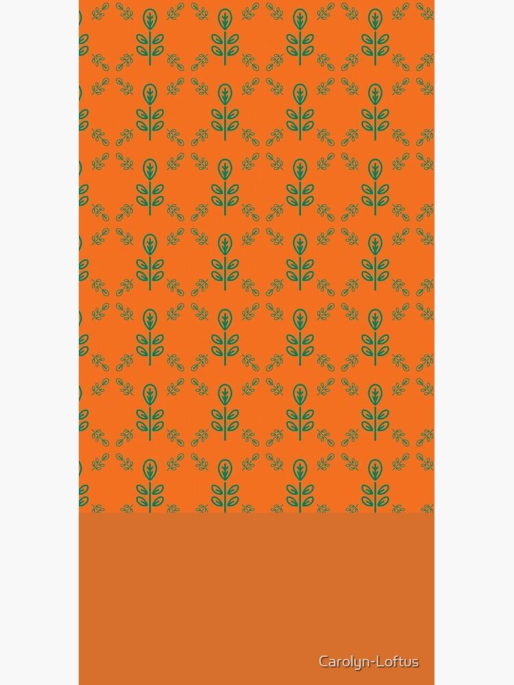 Early Bird, Sub Pattern (Leaf Orange) by Carolyn-Loftus