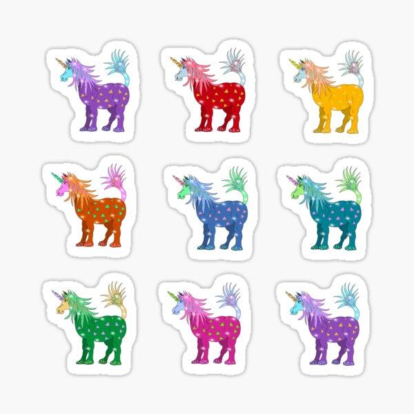 Mystical Magical Unicorns Multi Stickers Sticker