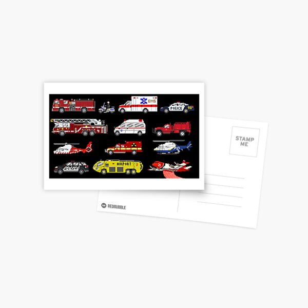 Emergency Vehicles - The Kids' Picture Show Postcard