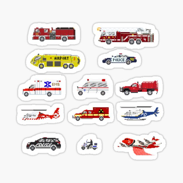 Emergency Vehicles - The Kids' Picture Show Sticker