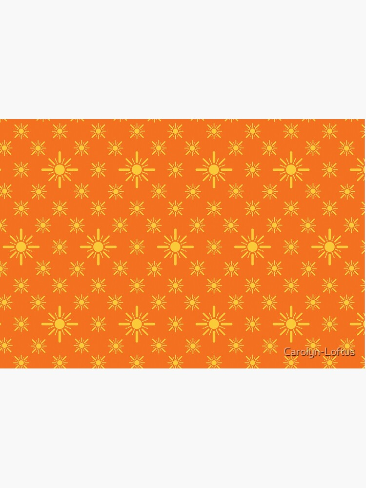 Early Bird, Sub Pattern (Sun Orange) by Carolyn-Loftus