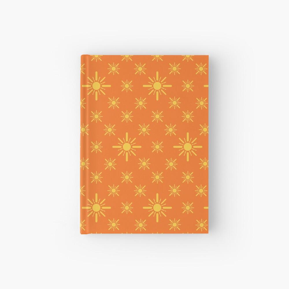 Early Bird, Sub Pattern (Sun Orange) Hardcover Journal