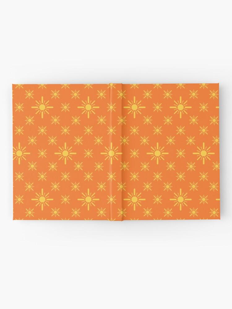 Alternate view of Early Bird, Sub Pattern (Sun Orange) Hardcover Journal