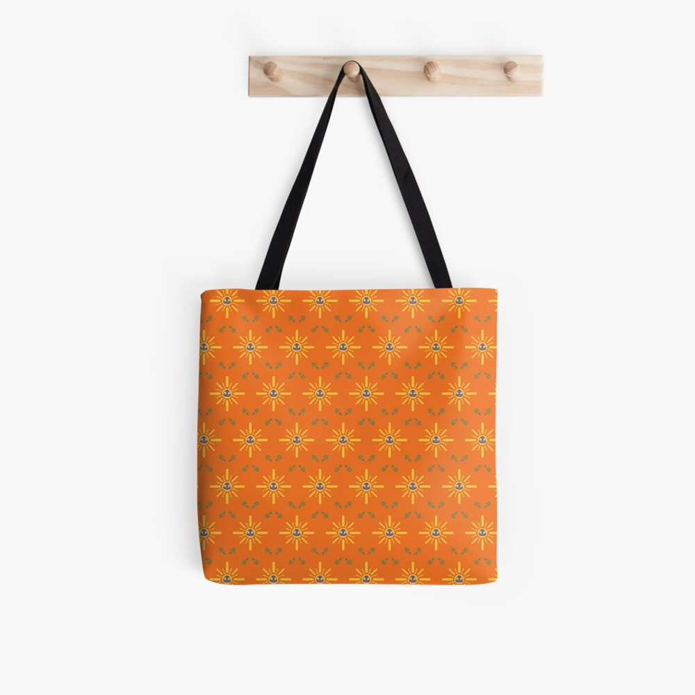 I am a Night Owl Doomed to the Life of an Early Bird, Main Pattern (Orange) Tote Bag