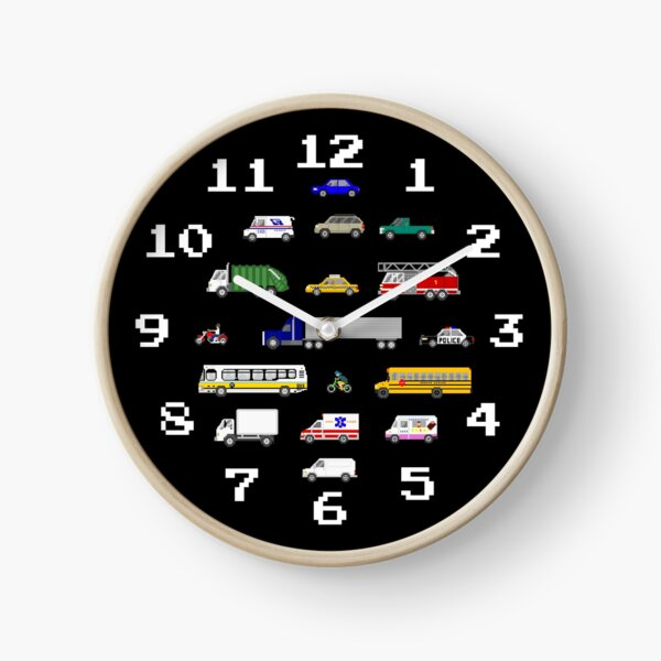 Street Vehicles - The Kids' Picture Show Clock