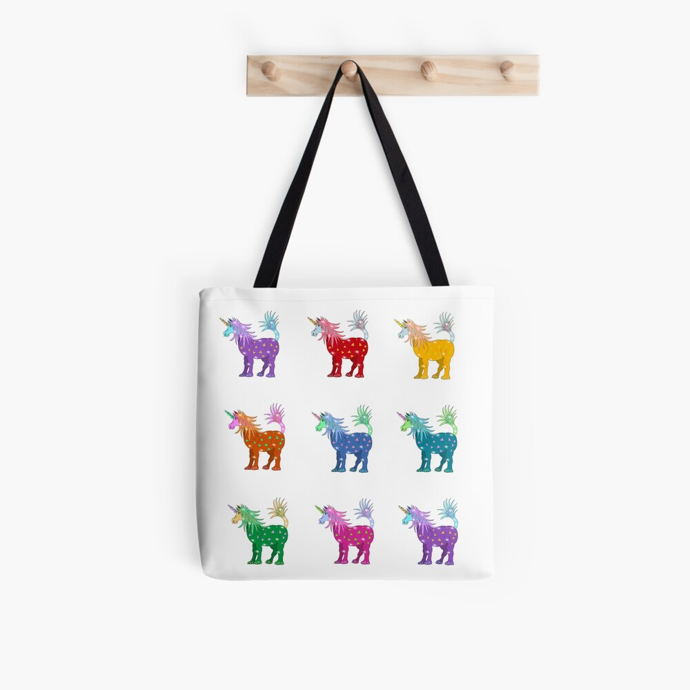 Mystical Magical Unicorns Multi Colored Tote Bag
