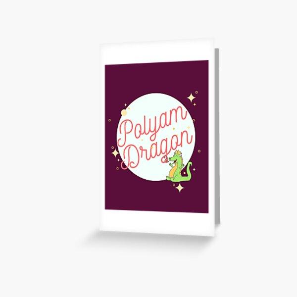 Polyamorous Baby Dragon Greeting Card