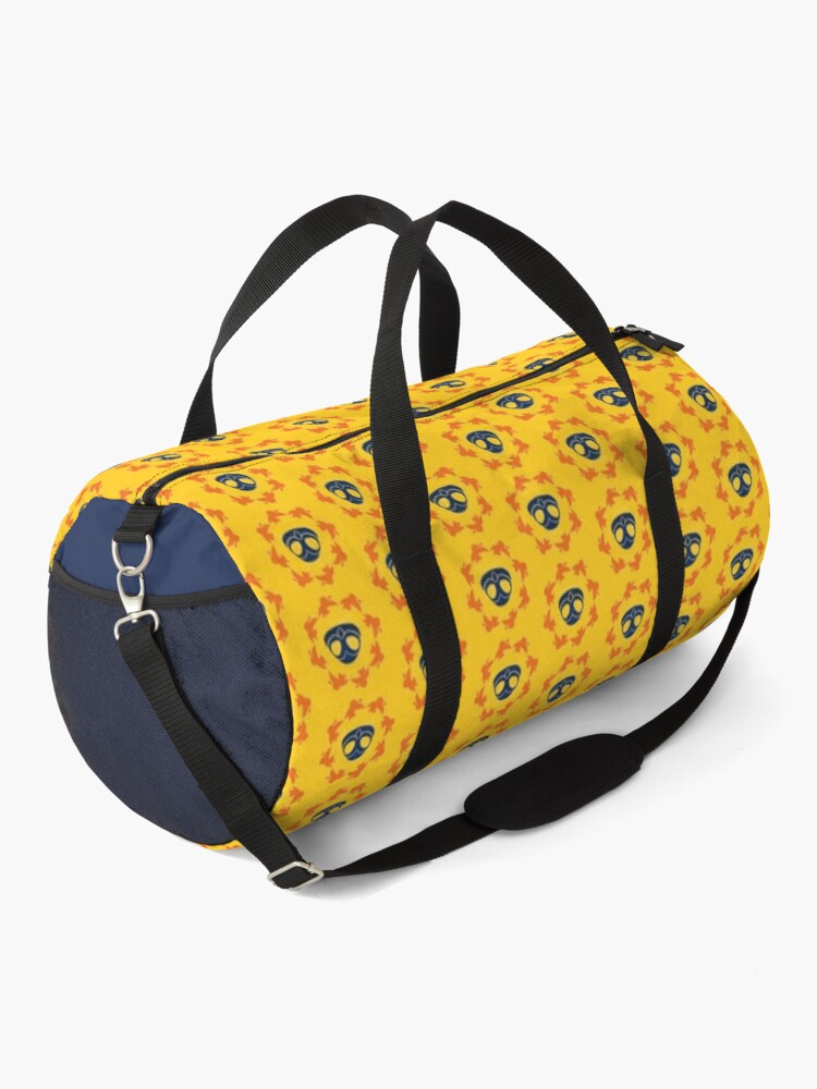 Alternate view of I am a Night Owl Doomed to the Life of an Early Bird, Sub Pattern (Yellow) Duffle Bag