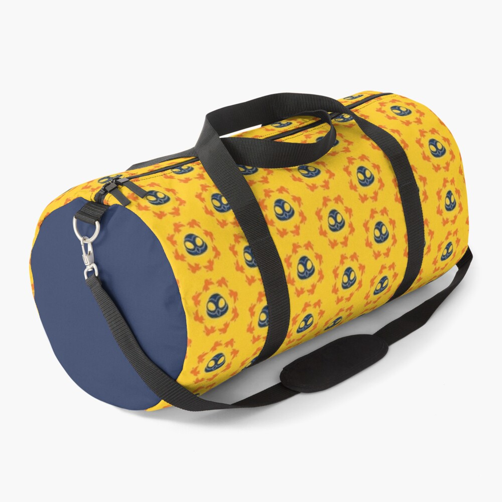 I am a Night Owl Doomed to the Life of an Early Bird, Sub Pattern (Yellow) Duffle Bag