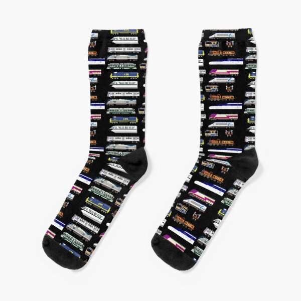 Railway Vehicles - The Kids' Picture Show Socks