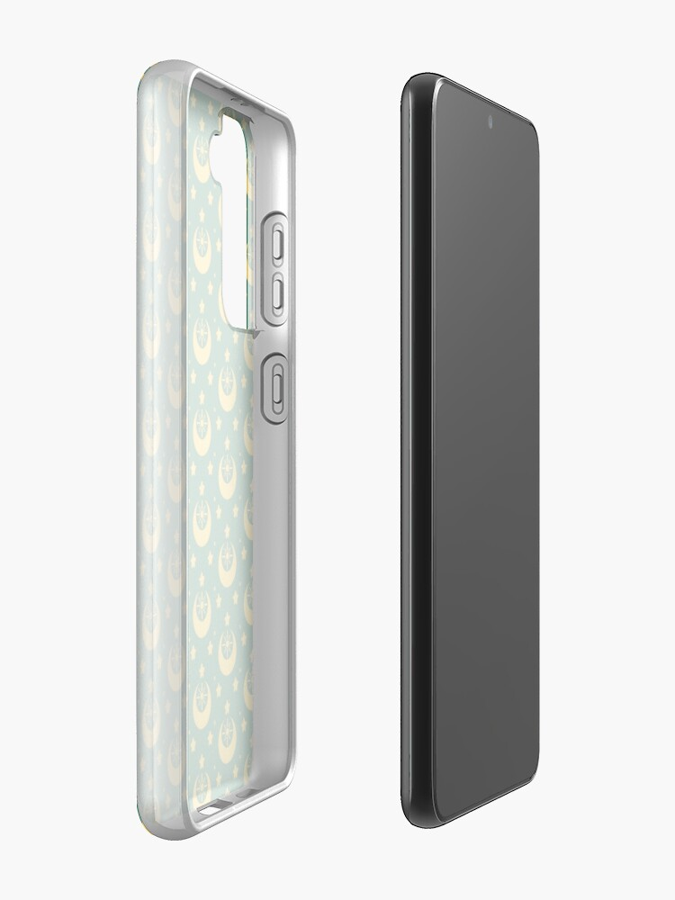 Alternate view of I am an Early Bird Doomed to the Life of a Night Owl, Sub Pattern (Green) Samsung Galaxy Phone Case
