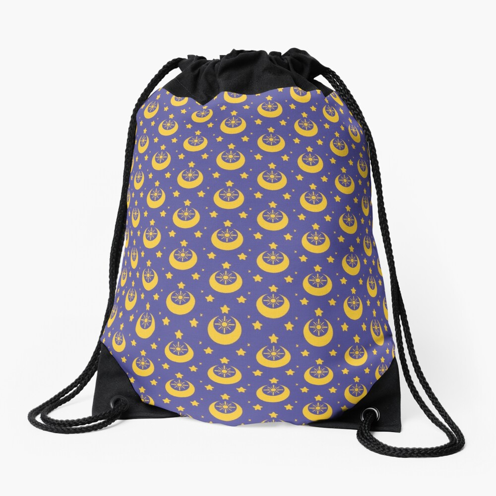 I am an Early Bird Doomed to the Life of a Night Owl, Sub Pattern (Purple) Drawstring Bag