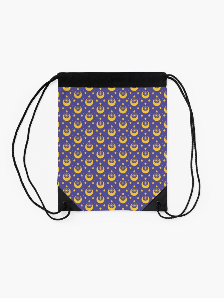 Alternate view of I am an Early Bird Doomed to the Life of a Night Owl, Sub Pattern (Purple) Drawstring Bag