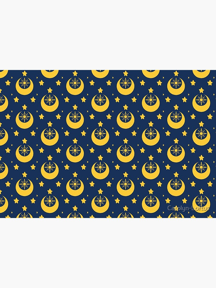 I am an Early Bird Doomed to the Life of a Night Owl, Sub Pattern (Blue) by Carolyn-Loftus