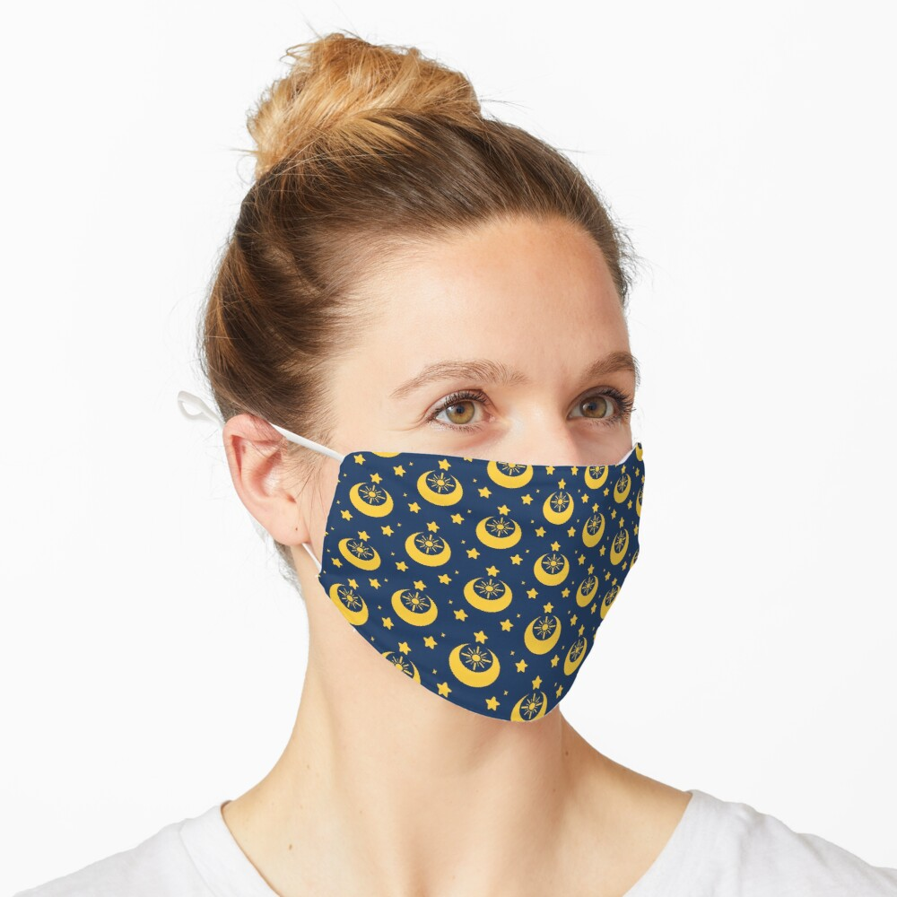 I am an Early Bird Doomed to the Life of a Night Owl, Sub Pattern (Blue) Mask