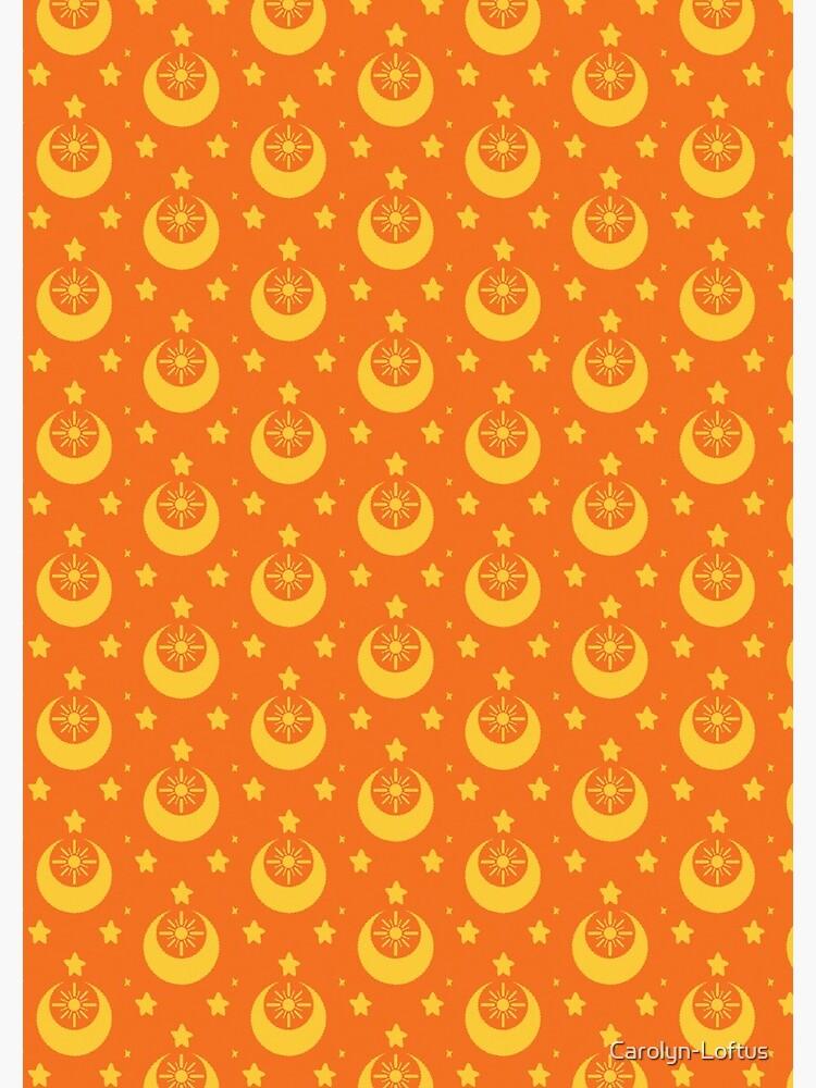 I am an Early Bird Doomed to the Life of a Night Owl, Sub Pattern (Orange) by Carolyn-Loftus
