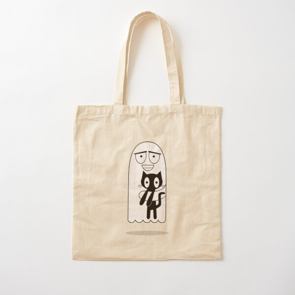 Can I keep it? Ghost wants pet Cat Cotton Tote Bag