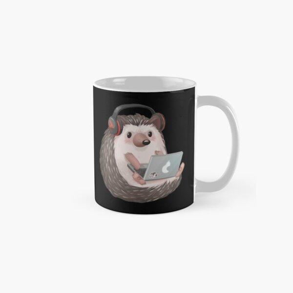 Hedgehog And Sunflower Coffee Mug Cute Hedgehog And Sunflower Latte Tea Mug