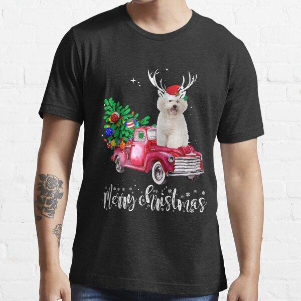 Bichon Frise Christmas Ride Red Truck Essential T-Shirt