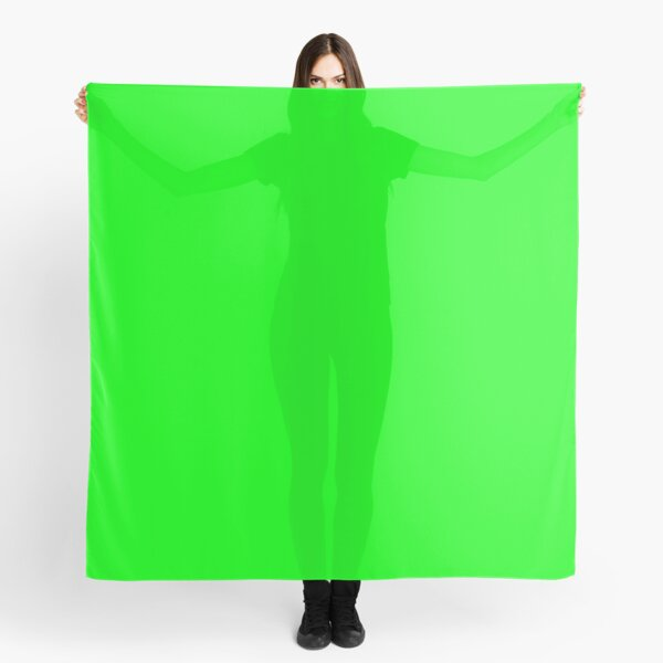 Green Screen Chroma Background For Streaming & Videos Scarf