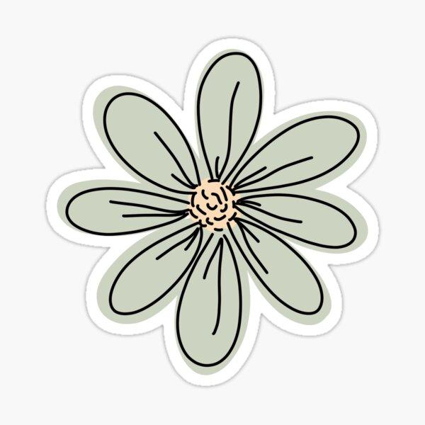 Green Flower Sticker