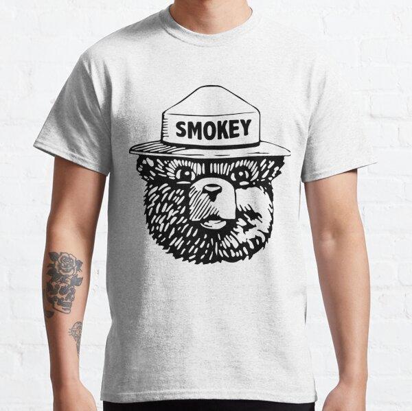 Smokey The Bear Head with Resist Hat Ladies T-Shirt