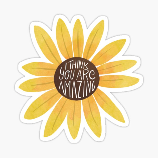 Amazing Sunflower Sticker