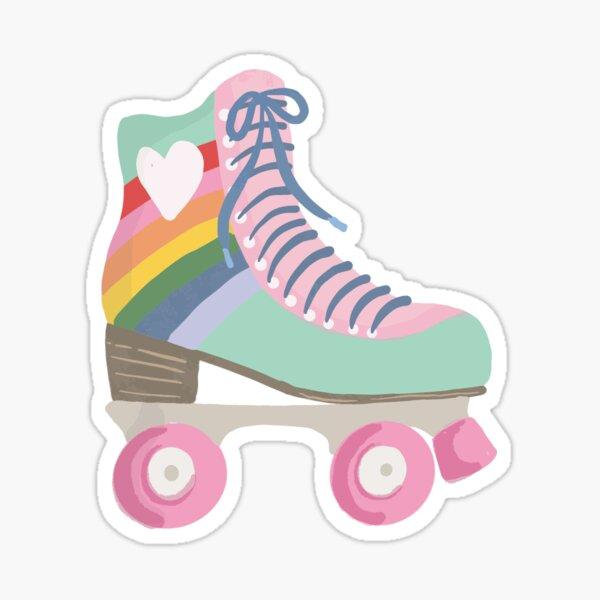 Rainbow Roller Skate Sticker