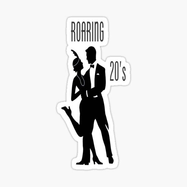 Roaring 20's Couple Dancing The Charleston Sticker