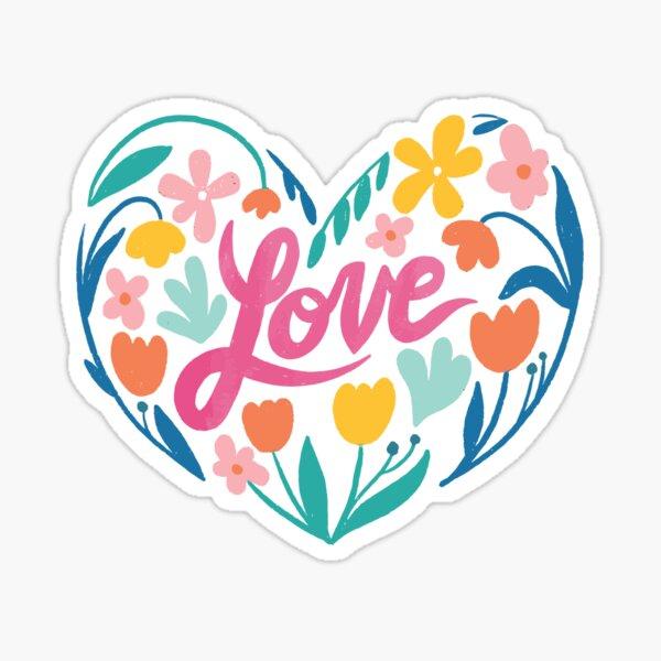 Love in Floral Sticker