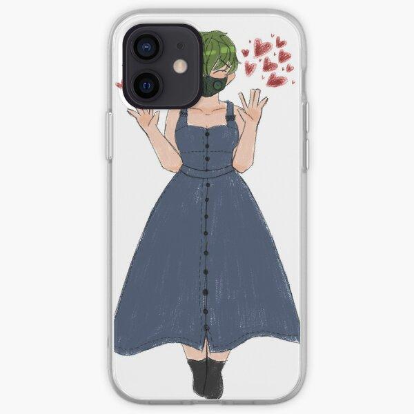 hearts dress green hair spoonie iPhone Soft Case