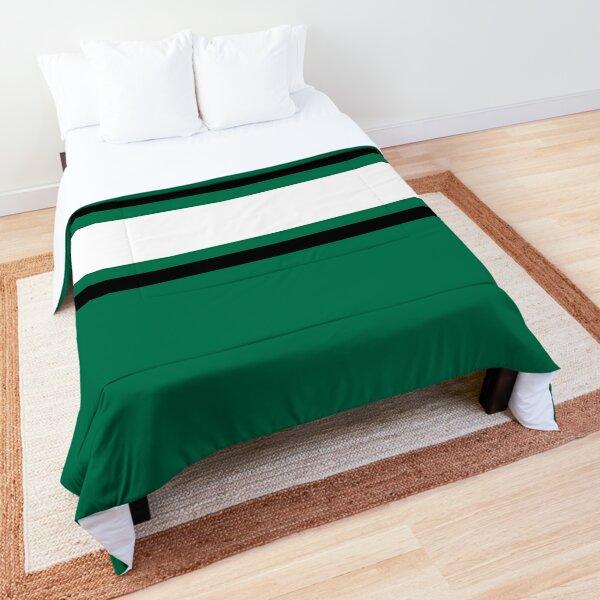 Green, Black, & White Power Stripe Comforter