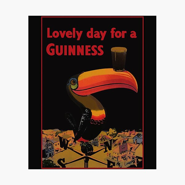 Lovely Day for A Guinness Letter Photographic Print