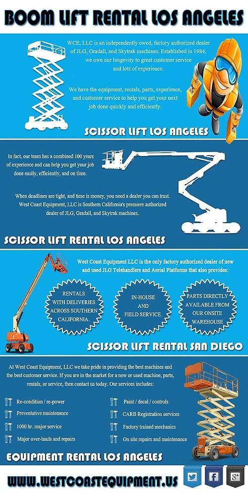 Boom Lift Rental Los Angeles by forkliftrental