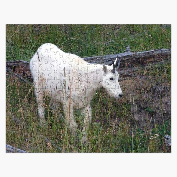 Watercolor Mountain Goat 22, Yellowstone, Wyoming Jigsaw Puzzle