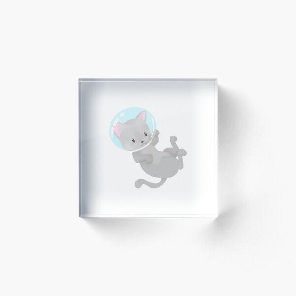 Space Kitty Acrylic Block