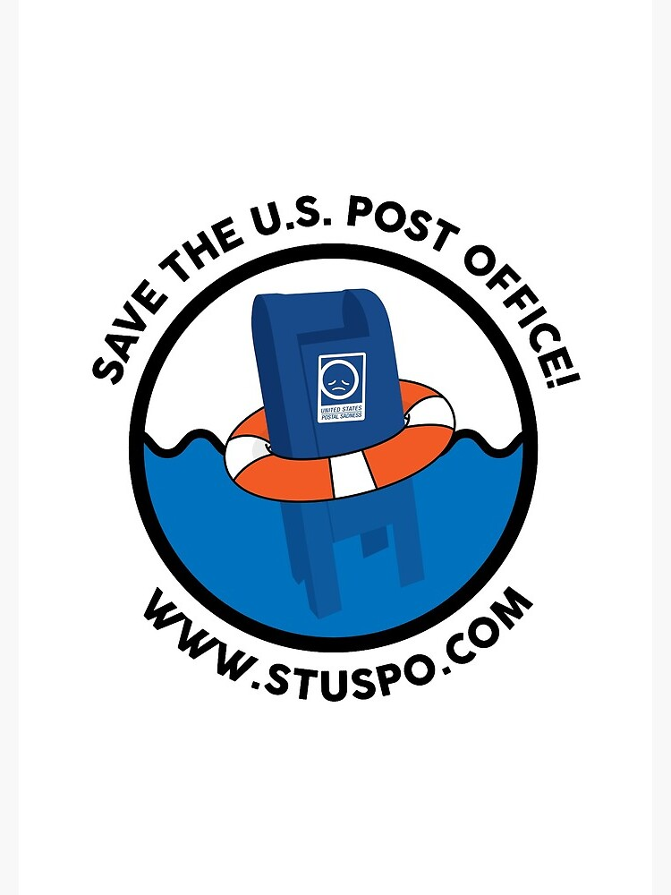 Save the US Post Office - STUSPO in Black by Sandman2k4